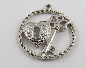 Key To Someone's Heart Sterling Silver Charm or Pendant.