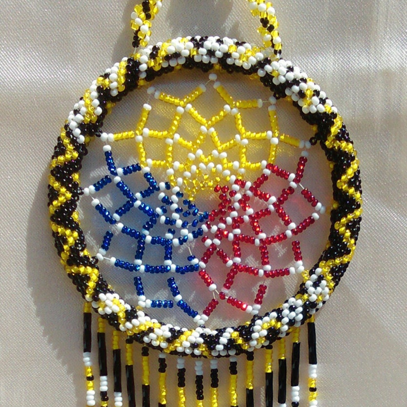 Pittsburgh Steelers Beaded Dream Catcher
