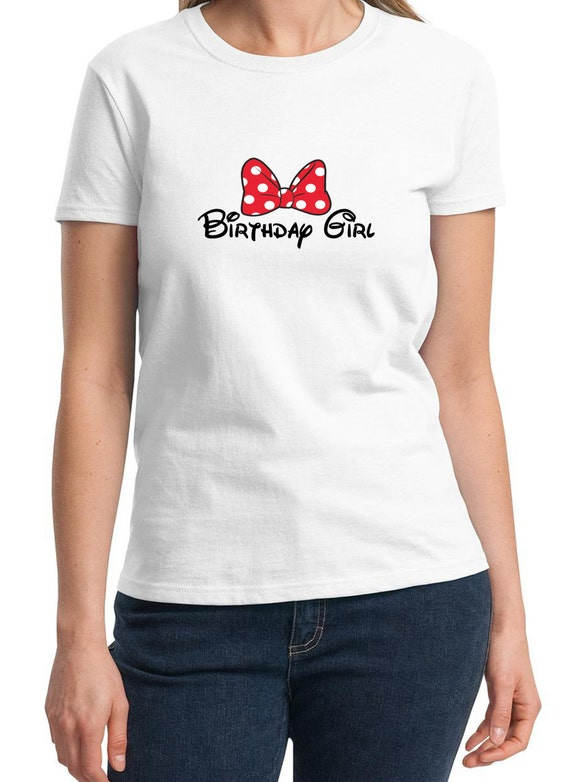 Birthday Girl with Bow Ladies T-Shirt