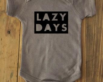 Lazy Days bodysuit, Lazy Days, baby shower gift, baby outfit, lazy bodysuit, lazy outfit, lazy baby