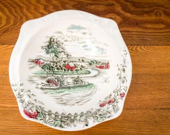 "Vintage 50's Johnson Bros The Road Home Servingi Bowl - 9"" Vegetable Bowl in The Road Home by Johnson Brothers"