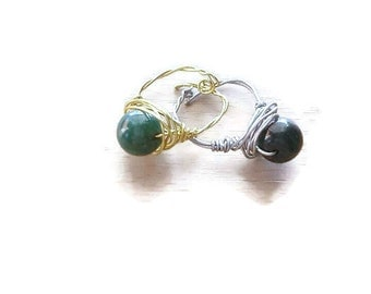 Boho Green stone ring set 2/green stone ring/boho ring set/green ring/Christmas boho ring/boho ring/stackable ring/stackable