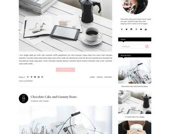 Premade Blogger Template Responsive - Fashion Template - Minimalist Blogger Template - Simple photography - Blogspot