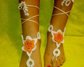 Barefoot Sandals Crochet Ref: S02