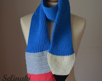Pencil scarf hand knit