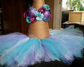 Purple Daisy Rave Bra