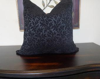 Black Velvet Pillow Cover, Decorative Black Throw Pillow, Cushion Cover, Housewares Decor, Pillow Decor, Home Living, 0008