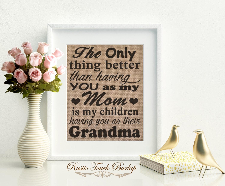 Grandmother birthday gift grandma gift grandmother gift for Good birthday presents for grandma