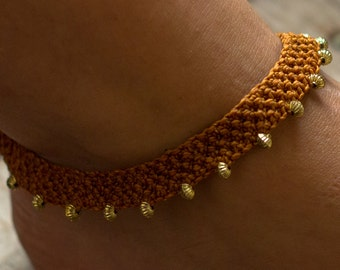 Macrame anklet bracelets