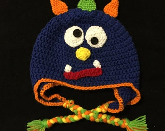 Monster Hat, Crochet Monster Hat,  Boy Monster Hat, Girl Monster Hat, Baby Monster Hat, Silly Monster Hat, Adult Monster Hat, photo prop