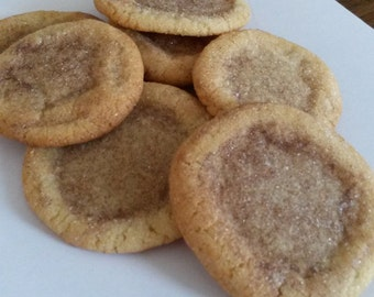 1 Dozen Snickerdoodle Cookies - Cinnamon and Sugar Cookies