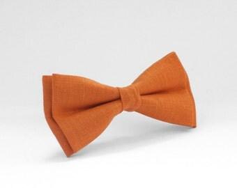 SALE -20 % Orange bow tie, Orange tie for wedding, mens bow tie, Orange toddler bow tie, orange baby bow tie, wedding bow tie