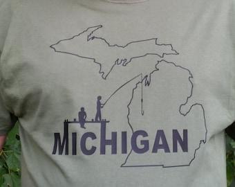 Fish Michigan T shirt