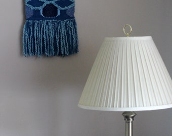 Blue Woven Wall Hanging, Cool Colors Weaving