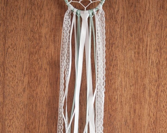 Small Dream Catcher | mint green | one of a kind