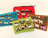 SPRING SALE 12% OFF* Handmade Unique Bolivian Peruvian Embroidered Andean Money Accessories Purse Pouch