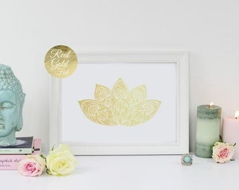 Lotus Flower Wall Art lotus wall art | etsy