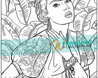Frida Kahlo Coloring Pages - Eskayalitim