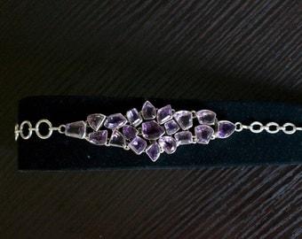 Alluring Amethyst Silver Bracelet