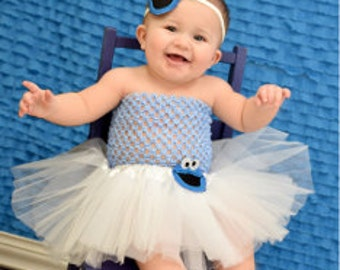 Cookie monster tutu set