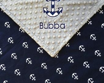 Nautical anchor baby etsy anchor baby blanket nautical anchor baby blanket grey minky anchor blanket nautical theme negle Gallery