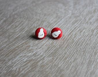 Little Chickie Button Earrings