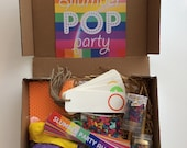Slumber Pop Party Activity Box, Activities for Kids, Tweens, Middle School, Slumber Party Ideas, Slumber Balloon Party Activities