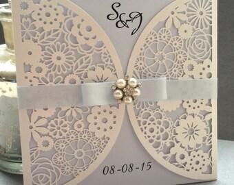 EMMA Handmade Lasercut Wedding Invitation