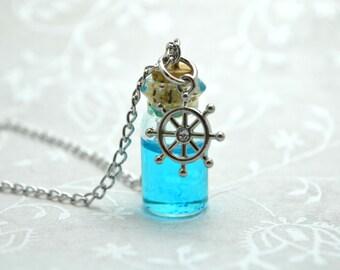 Beach Necklace, Ocean Necklace, Sea Necklace, Nautical Necklace, Bottle Necklace, Anchor Necklace, Turtle Necklace, Starfish Necklace, Charm