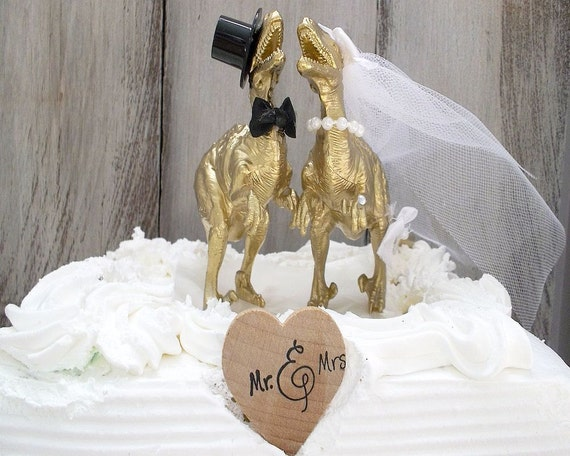 gold dinosaur wedding cake topper dinosaur wedding cake topper gold dinosaur animal cake 14751