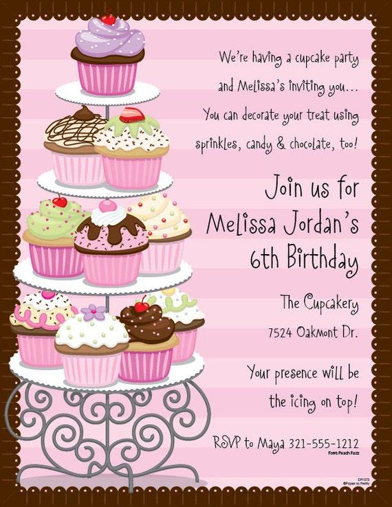 Cupcakes celebration invitation birthday party bash bridal new il570xn stopboris Image collections