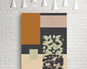 Geometric abstract print, room decor, fine art print, geometric art print, large wall art, textured art, modern print, wall art, wall decor