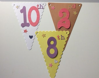 Additional bunting number flag