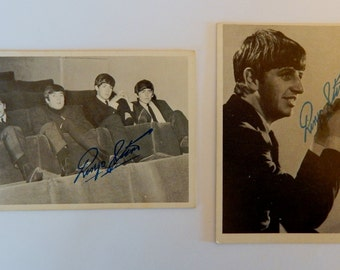 1964 Series 1 Beatles Trading Cards (2 Ringo Starr facsimile signed cards)