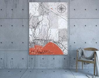 VICTORVILLE CA Canvas Print California Vintage map Town Plan