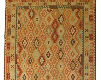 Handmade Afghan Kilim 256 cm x 194 cm (14355)