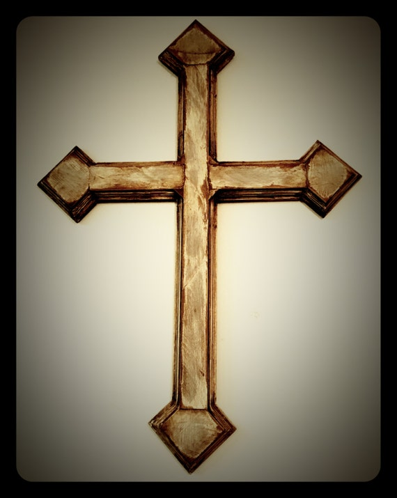 Large Distressed Wall Decor : Large distressed wall cross wood by americanflag