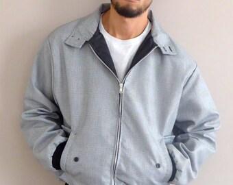 90s Fit Harrington Jacket Prince of Wales Grey