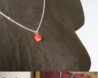 Pendentif Rose en Corail - Rock - Bronze, Corail, Argent - Bijou Fantaisie