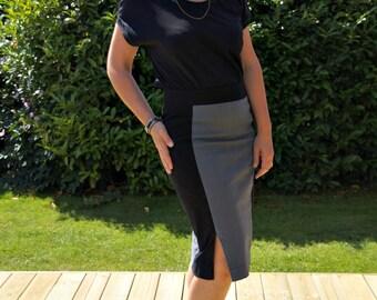Women's skirt PDF sewing pattern/Ladies skirt PDF pattern/pencil skirt pattern/haute skinny skirt pattern/wiggle skirt sewing pattern