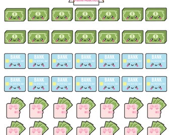 Kawaii Payday / Money / Credit Card Bill Payment Reminder Planner Stickers!