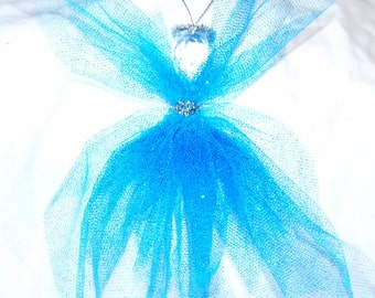 Glittery Tulle Angel ** An Angel for Anytime ** Christmas Tree Ornament ** Ceiling Fan Pull ** Dorm Decor ** Window Decor ** Easter **Spring