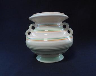 Vintage Green Art Deco Burleigh Ware Vase 1940's  #00039