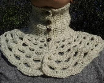 Crochet Cowl Scarflette , Crochet Neckwarmer, Crochet  Scarf, Crochet Necklace, Women Cowl,  Womens Gift