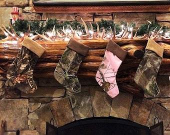 Monogrammed Christmas Stockings, Camo Christmas Stocking,Pink Camo Christmas Stocking,Snow Camo Stocking,Camouflage Stockings,Xmas Stockings
