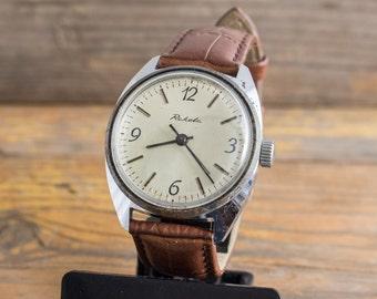 Vintage Raketa mens watch, mechanical watch, vintage mens watch, retro watch, russian watch ussr cccp soviet watch