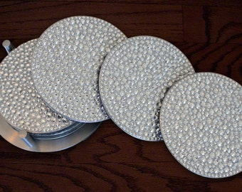 Sparkling 4 Piece Set of Rhinestone Coasters with Holder (Stocked in USA!)
