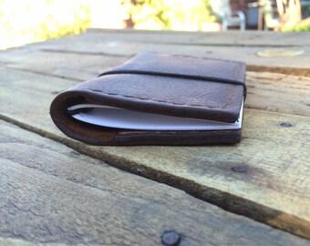 Custom Full Grain Leather Travelers Journal Wallet (Customized Notebook)