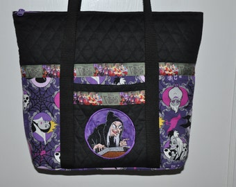 NEW!   Villains Maleficent, Evil Queen & Old Hag (Snow White)  Embroidered Handbag Shoulder bag