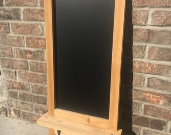 Natural Cedar Chalkboard w/ Shelf & Hooks